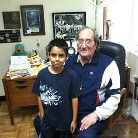 Brian with Dr Charles Ray Jones
