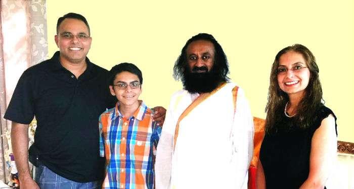Dashore family with HH Gurudev Sri Sri Ravishankar